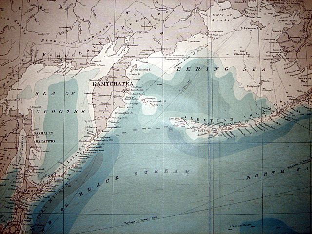 1918 Attractive Map North Pacific Ocean Japan Vancouver