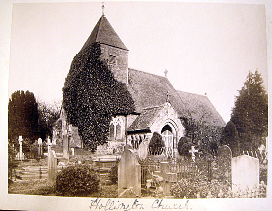 1880 Original Photograph Hollington Church Hastings UK
