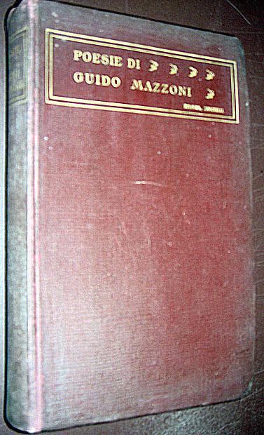 1923 Poems of Guido Mazzoni Italian